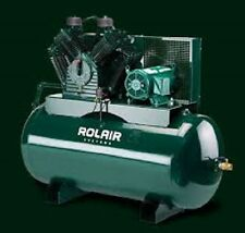 Rolair 7.5Hp Single or 3 Phase Constant Run Electric Air Compressor w/60 Gallon