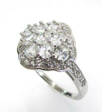 Oval Cluster Ring Size 10 Rt6 925 Sterling Silver Cz Cubic Zirconia