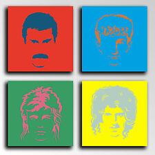 Carreau Moderne Photographie base bois, 65 x 65,Queen,Freddie Mercury,Brian May
