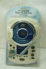 Shower Radio Cd Clock With Lcd Display Cd Player Am/Fm Water Resistant Alarm