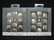 20 Threshold 33 mm Column Knobs Satin Nickel Square Top Knob (Total 2 Boxes)