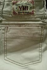 R8 YMI ivory denim low rise flare jeans size 0 SISLOU