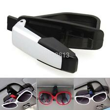 Car Sun Visor Clip Holder For Dual Sunglasses Eyeglass Reading Glasses Card