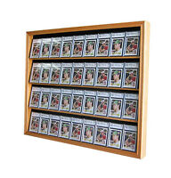 36 Graded Baseball Football Basketball Card display Case Frame Cabinet, CC02-OA