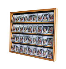 36 Graded Baseball Football Basketball Card display Case Frame Cabinet, CC02-OA