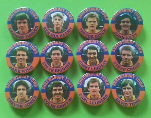 SHREWSBURY TOWN  BADGES 1980 SQUAD X12  38mm in size