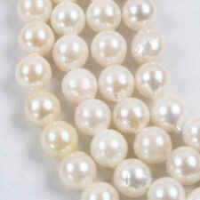"""7-8mm Real Natural White Freshwater Pearl Loose Beads 14.5"""""""