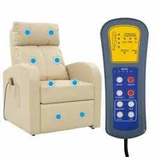 vidaXL Elektrischer Massagesessel Relaxsessel Massagestuhl Fernbedienung Creme