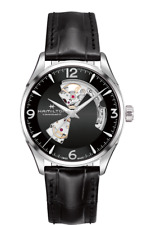 *BRAND NEW* Hamilton Men's Jazzmaster Open Heart Black Dial Watch H32705731