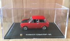 "DIE CAST "" AUTOBIANCHI A112 ABARTH 70 HP - 1975 "" + TECA  BOX 2 SCALA 1/43"