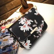 Women Floral Shoulder Bag Tote Handbag Leather Messenger Bags Hobo Satchel Purse