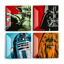 Star Wars Clásico Melamina Plato Set 4-piece Darth Vader Yoda Masticable