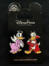 Disney Parks Pin Trading Donald Duck Devil & Daisy Duck Angel