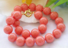 New Genuine 8mm South Sea Coral Round Beads Necklace 18'' AAA