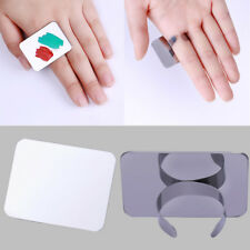 Nail Art Color Palette Finger Ring Plate Acrylic UV Gel Polish Cream Mixing Tool