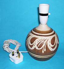 Barbara Davidson Pottery - Attractive Table Lamp Base (ID label on Base).