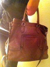 Cole Haan Large Cognac Leather Handbag Purse Tote Euc Bag Shoulder Crossbody
