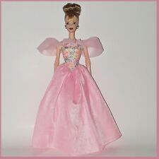 BARBIE Fashion GOWN Pink FLORAL Gown & Heels