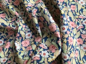 EXCLUSIVE Liberty Tana lawn PRIMROSE PATH pink/blue 0.50 metre ~ limited edition
