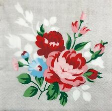 2 single paper napkins for Decoupage Crafts or Collection Flowers Roses shabby