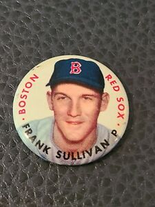 Frank Sullivan Boston Red Sox 1956 Topps Baseball Pinback Button