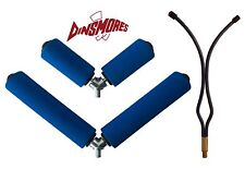 Pole Fishing Rest Set of 3 Includes 2 Dinsmores Pole Rollers and Pole Peg Rest