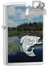 Zippo 29408 fish in mountain lake Lighter with PIPE INSERT PL