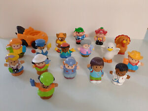 Fisher Price - Little People x16 Figures - People + Seagull + Turkey + Tow Truck