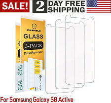 2 PACK Samsung Galaxy S8 ACTIVE Tempered Glass Screen Protector Saver