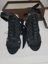 Wittner womens size 5 black beaded heels circa 2010