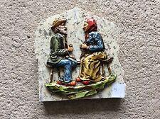 Décoration couple de personnes âgés sur plaque de marbre Vintage (5)