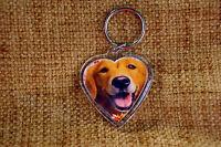 Golden Retriever Keyring Dog Key Ring heart Golden Retriever Mothers Day Gift