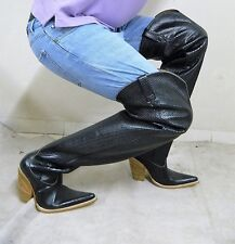 32 inch tall cowboy boots emboss leather men size 11 in stock to ship today.