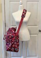 New VERA BRADLEY Grand Traveler Bag Shoulder Strap & Handle Bloom Berry - NWT