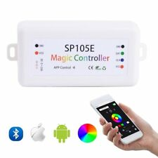 SP105E Bluetooth WS2812B LED Controller RGB/RGBW APA102 WS2801 Pixels Strip DE