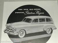 1950 Pontiac advertisement page, Pontiac Station Wagon & Convertible