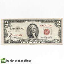 USA: 1 x 2 1953 US Dollar Red Seal Banknote.