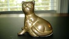 Vintage Kitty Cat Paperweight / Statue / Figurine~Solid Brass~Nice Patina~