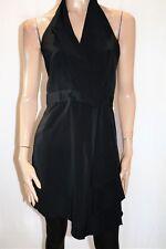 Portmans Brand Black Wrap Around Halter Dress Size 10 LIKE NEW #AN02