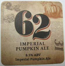 62 IMPERIAL PUMPKIN ALE Beer COASTER, Mat, DuClaw Brewing, MARYLAND 2015