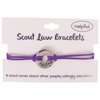 Boy Girl Purple Scout Law Bracelet Helpful Scouting BSA Adjustable Adult Youth