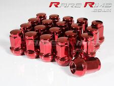 Red GT50 Wheel Nuts x 20 12x1.25 Fits Subaru Impreza Hatch Sti WRX