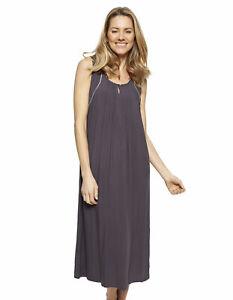 Cyberjammies 1332 Nora Rose Nancy Grey Modal Long Nightdress 10