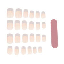 24 Pre-Designed False Nail Tips Press On Artificial Full Cover Stickers Set