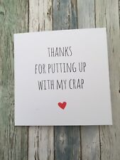 Funny Anniversary Valentine's Card Cheeky Humour Rude/  Banter / Sarcasm - PUC