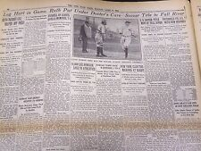1930 APRIL 7 NEW YORK TIMES - BABE RUTH INJURES LEG - NT 4253