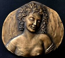FRENCH Meadows of the wines by Arbois BRONZE ART MEDAL / 68 mm x 65 mm / N 120