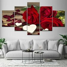 Love Letter and Rose Flower 5 piece HD Poster Art Wall Home Decor Canvas Print