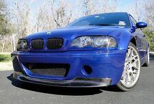 BMW E46 M3 CSL TYPE FRONT BUMPER VALANCE CARBON FIBRE SPLITTER LIP SPOILER Y3196