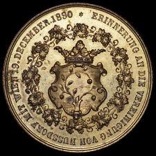 NUSSDORF: Bronze-Medaille 1892. VEREINIGUNG MIT WIEN - ADOLF BACHOFEN VON ECHT.